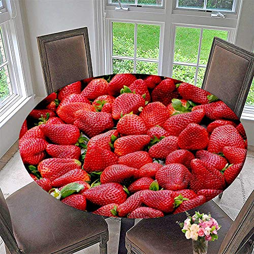 - Mikihome Round Tablecloths Seductive Fresh Strawberry or Everyday Dinner, Parties 31.5