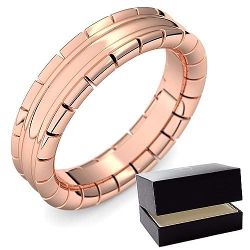 Rojo Oro alianzas de matrimonio Ring/Anillo de gran calidad Dorado ...