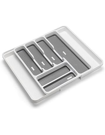 Addis Organizador de cajones Extensible para Cubiertos con 6 – 8 Compartimentos