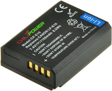 Batería ChiliPower Canon LP-E10 1150mAh para Canon EOS 1100D, EOS ...