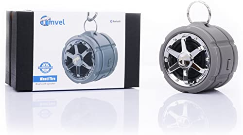 Tmvel Tire Waterproof IPX7 Rugged Wireless Portable Bluetooth Speaker, Shower Speaker, With Suction Cup – Great For Outdoors