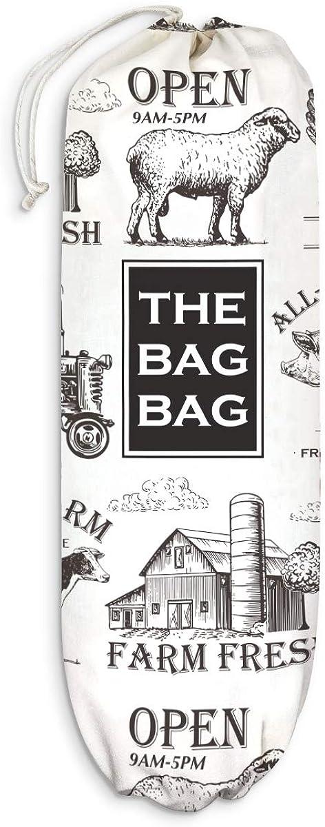 "Farmhouse Kitchen Plastic Bag Holder Farm Animals Grocery Shopping Bags Carrier Storage Organizer Dispenser Home Decor Gift for Housewarming Thanksgiving Christmas Extra Large(23"" x 9"")"
