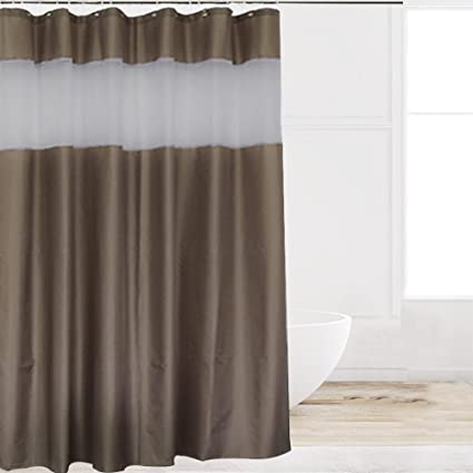 Eforcurtain Extra Long 72 Inch X 84 Fabric Shower Curtain With Rust Resistant