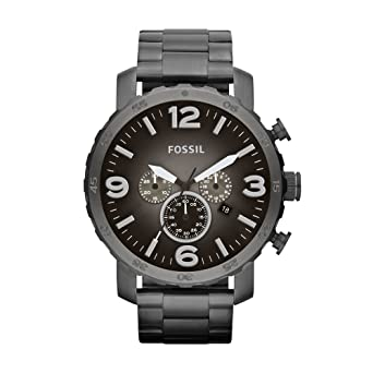 ad8ced115 Fossil Men's JR1437 Nate Stainless Steel Watch With Link Bracelet ...