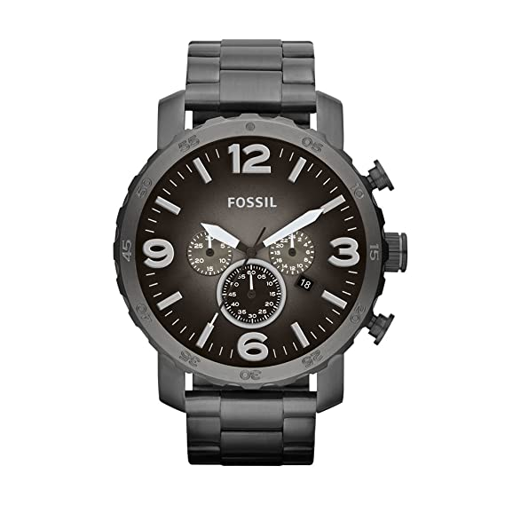 64bbb42d19db Fossil Reloj Cronógrafo para Hombre de Cuarzo con Correa en Acero Inoxidable  JR1437  Fossil  Amazon.es  Relojes
