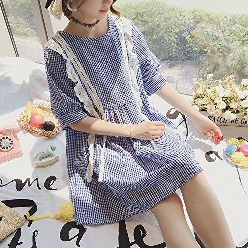 MiGMV Taille fe Jupe Gueules Femme poupe Robe 2018 Lattice Taille Robes de Longue fe S rxHwrY8qP