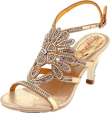 Womens Sexy Comfort New Wedding Party Job Fashion Slip on Block Heel Slippers