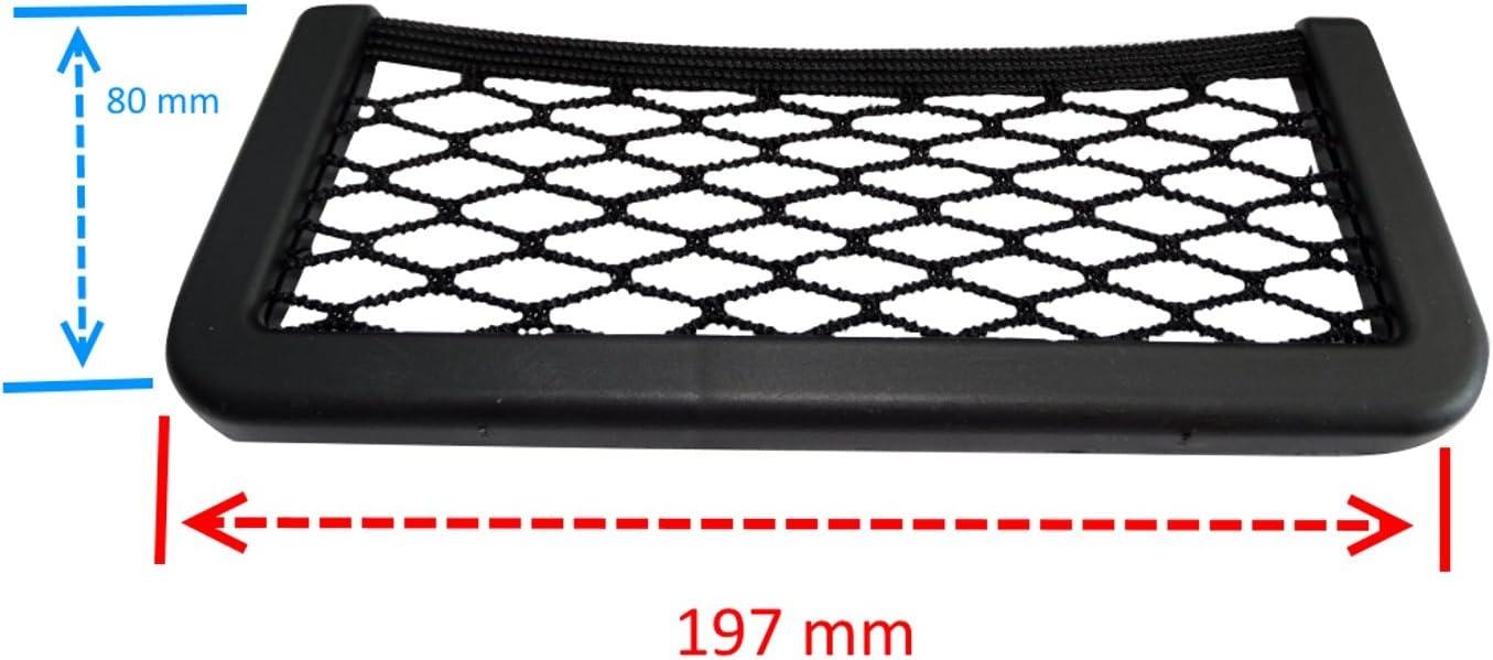 Soporte Bolsillo de Almacenamiento Elastico Adhesivo para salpicadero de Coche vehiculos C17007 AERZETIX