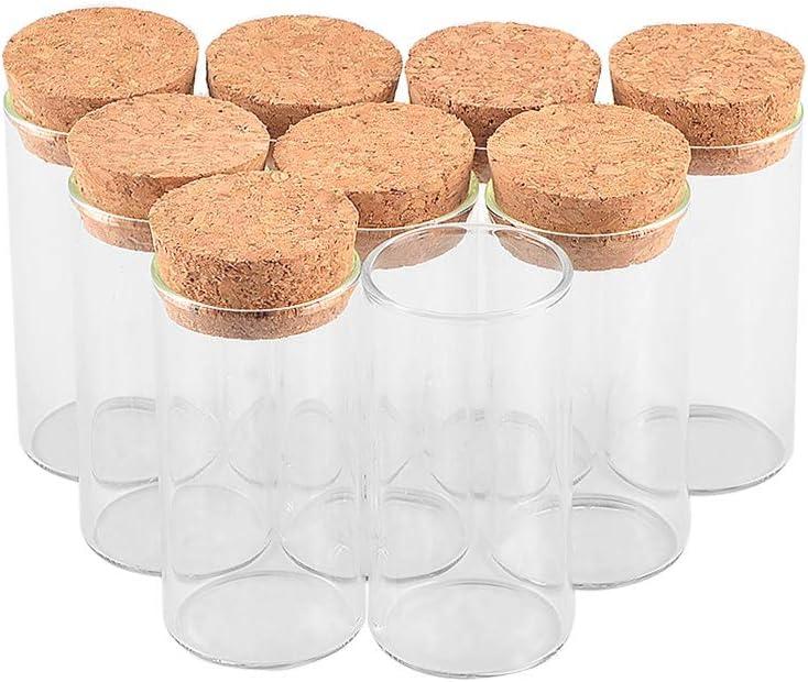 36pcs Transparent Clear Glass Test Tube Jars with Corks Stopper Food Storage Jar for Scientific Experiments Party Storage Bottles 36pcs 30x60mm