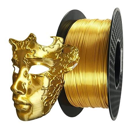 Filamento de impresora 3D PLA de 1,75 mm de oro sedoso de 1 kg ...