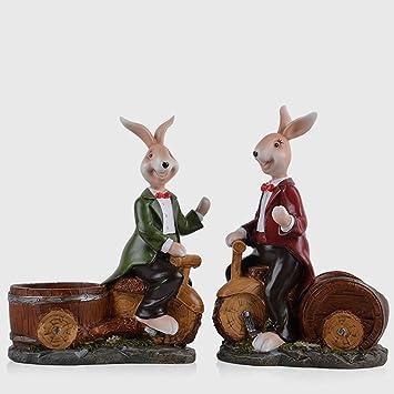 YJ-accessories Conejo de Vino nórdico Vino decoración del ...