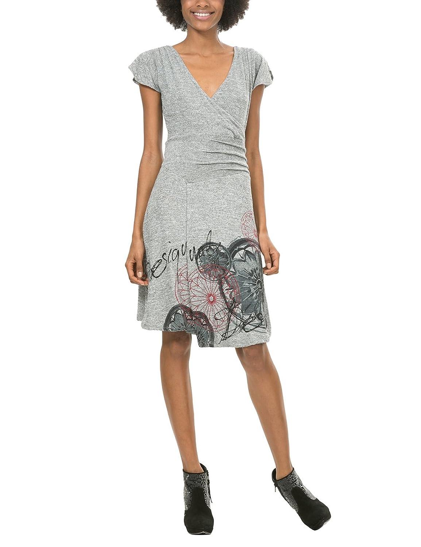 Desigual Damen Kleid Vest_Rhianne, Grau (Gris Vigore 2009), 42 (Herstellergröße: XXL)