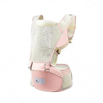 Portabebés - 2 en 1: Mochila para bebé, taburete en la cintura - Malla