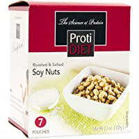 ProtiDiet Soy Nuts - Roasted & Salted (7/Box) - High Protein 15g - Low Carb - High Fiber