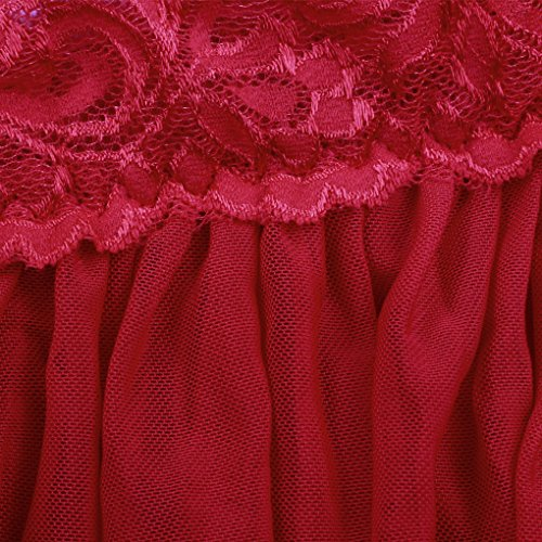 Chemise Collar Garment Lace V Dress Acmede Femme Lingerie Red Night Sexy zP0t0Iq