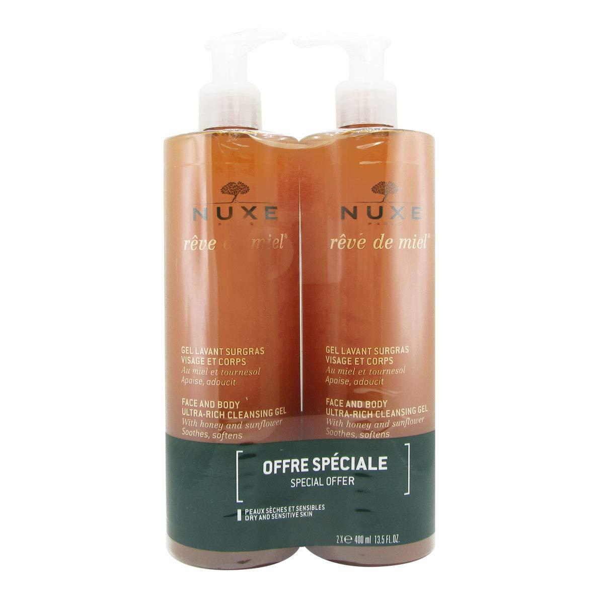 brand new 6daed 9a77f Nuxe Rêve de Miel Gel Lavant Surgras Lot de 2 x 400 ml  Amazon.fr  Beauté  et Parfum
