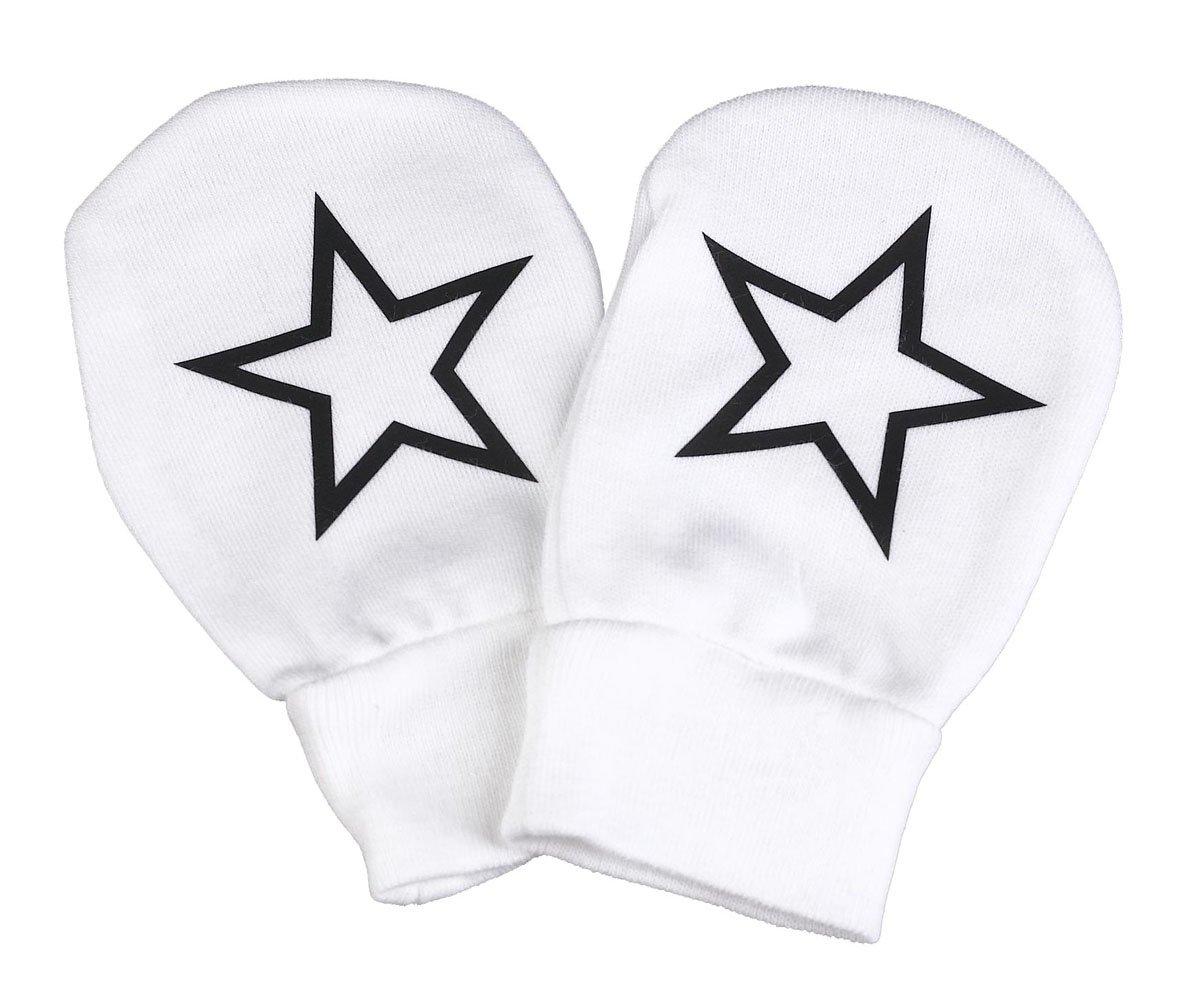 Spoilt Rotten - Stars Design 100% Organic Cotton Scratch Mittens 68000