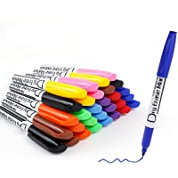 Volcanics Dry Erase Markers Low Odor Fine Whiteboard Markers Thin Box of 30, 10 Colors