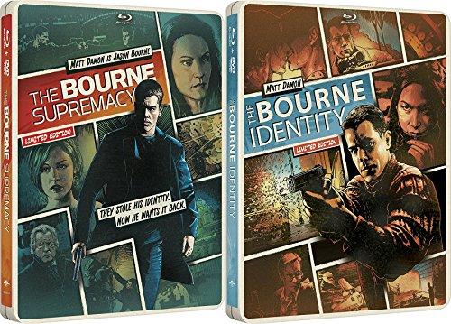 Bourne Exclusive Steelbook Edition & Bourne Identity + The Supremacy Blu Ray + DVD 2 Pack Matt Damon Movie Set