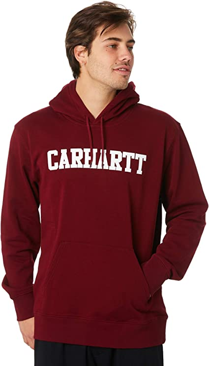 Carhartt Hooded College Sweat Sweat A Capuche Homme Bordeaux