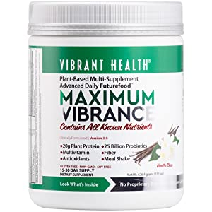 Vibrant Health - Maximum Vibrance - All in One Multi-Supplement Advanced Daily Futurefood