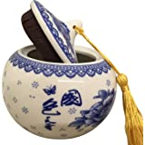 THY HOME Exquisite Oriental Ceramic Tea / Coffee Storage Jar Crock Canister