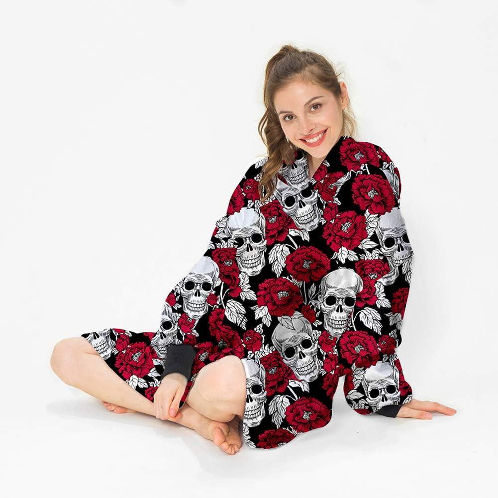 Übergroße Hoodie Decke/Damen Tragen Kapuzenpullover Sweatshirt Winter Dicken Übergroßen Faulen Hoodie für Erwachsene zu Hause Geeignet Rot