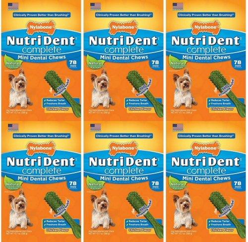 Nylabone Nutri Dent Complete Chicken Mini 468pk (6x78pk)