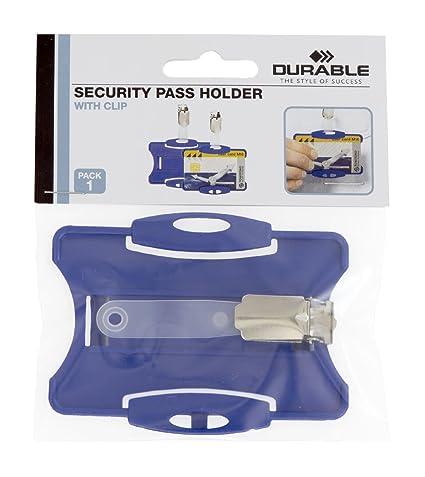 Durable - Soporte con pinza para tarjetas identificativas ...