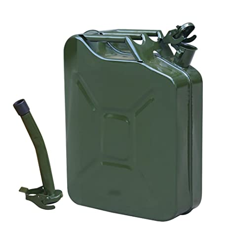 5 Gallon Gal Jerry Can 20L Liter Backup Steel Tank F-uel Gas Gasoline G-reen