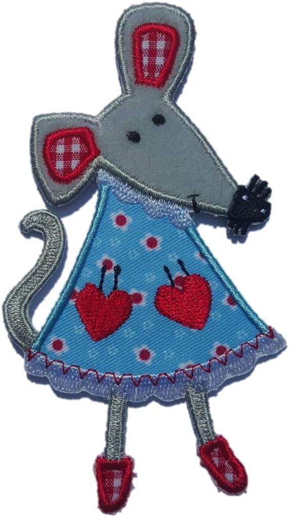 TrickyBoo 2 Aufb/ügler Maus 6X11cm M/öwe 11cm High Set Aufn/äher Flicken Applikationen zum Ausbessern von Kinder Kleidung mit Design Z/ürich Schweiz f/ür Deutschland und /Österreich