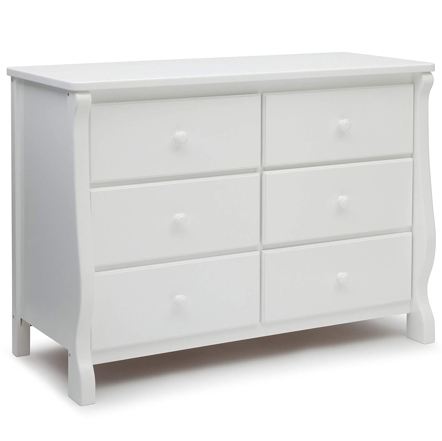 Delta Children Universal 6 Drawer Dresser, White
