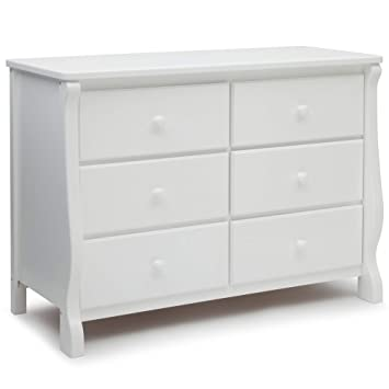 Amazon Com Delta Children Universal 6 Drawer Dresser White Nursery Dressers Baby