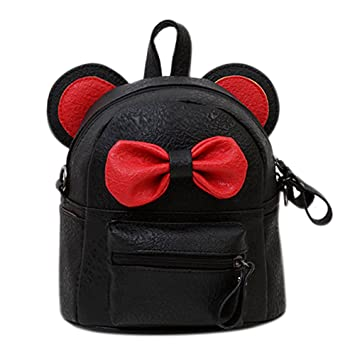 1d417c3861c3 Cuddty Women Girls Cute Bowknot Leather Backpack Mini Daypack Kids  Schoolbag Shoulder Bag