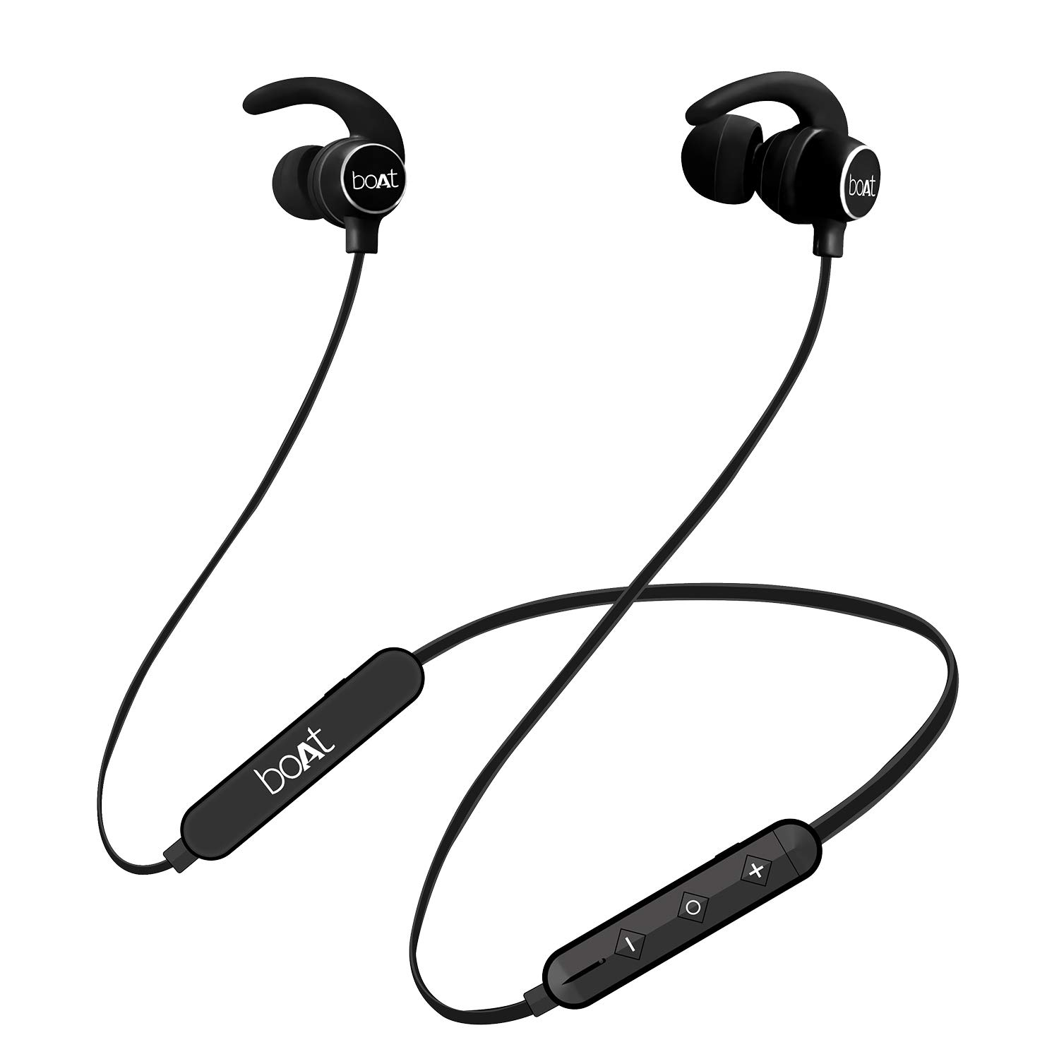 boAt Rockerz 255 Sports Bluetooth Wireless Earphone with Immersive Stereo Sound and Hands Free Mic (Active Black)