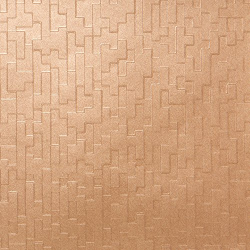 Rhythm Bronze Geometric Wallpaper for Walls - Double Roll - Romosa Wallcoverings LL7571