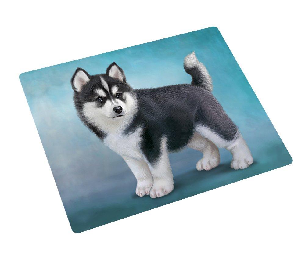 Black And White Siberian Husky Puppy Dog Rectangle Envelope Seals (20)