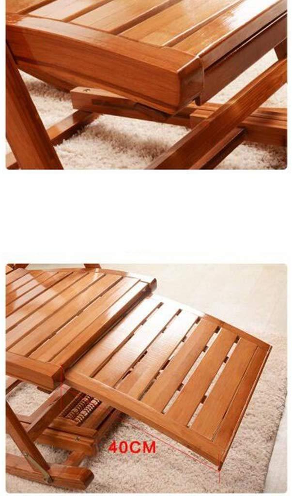 RECLINING SUN LOUNGER hopfällbar stol bambu gungstol justerbar loungestol, med utökat fotstöd och fotmassagekort, för utomhusträdgård xiuyun (färg: E) a