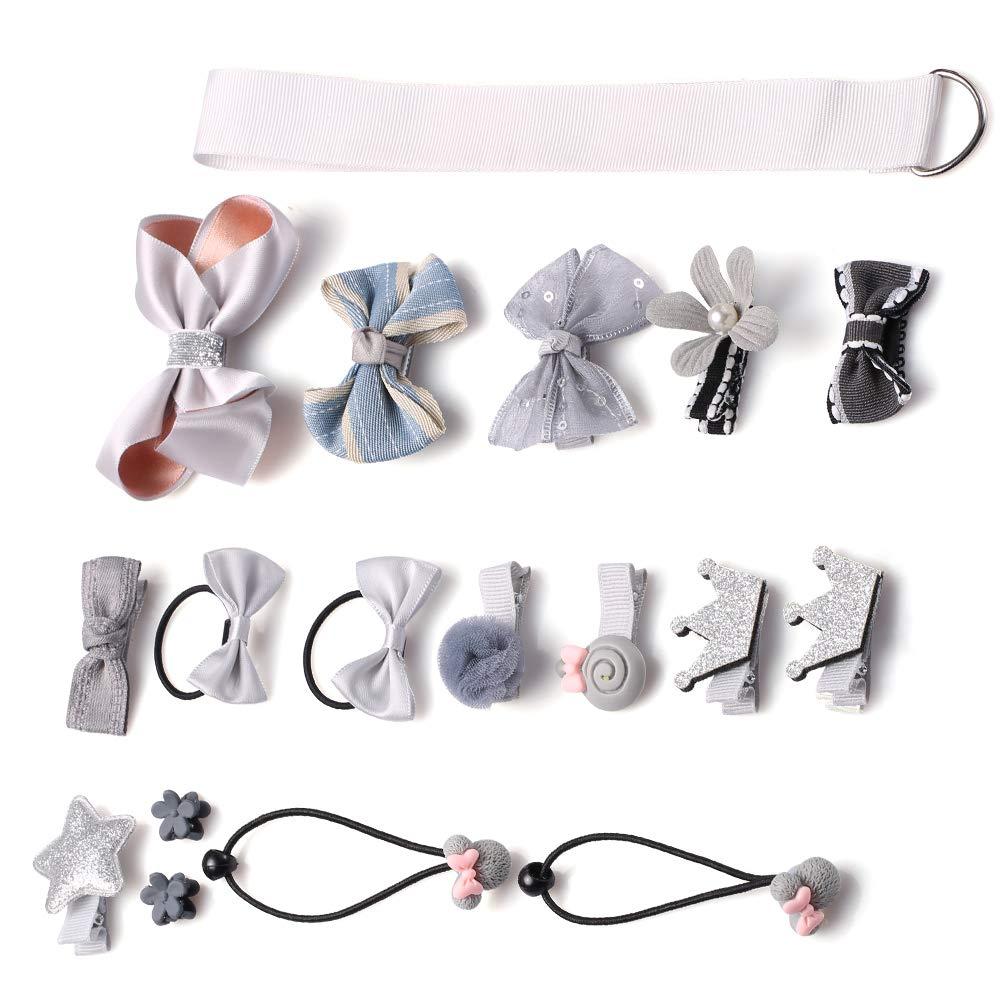 Accesorios del pelo de Kaiercat, pelo lindo arquea los clips fijados para las pequeñas muchachas del bebé o animales domésticos (Rosa)
