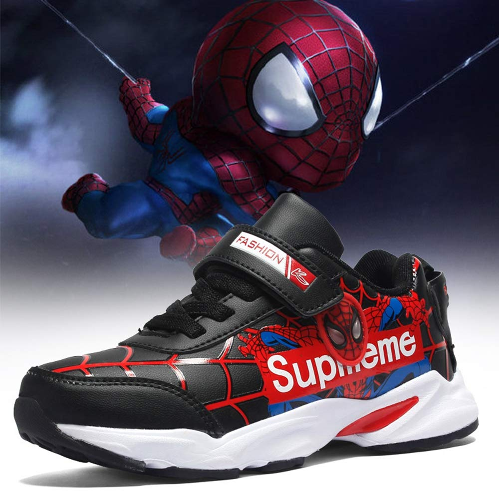 ROKIDS Kids Three-Dimensional Spider-Man Leather Sneakers for Boys