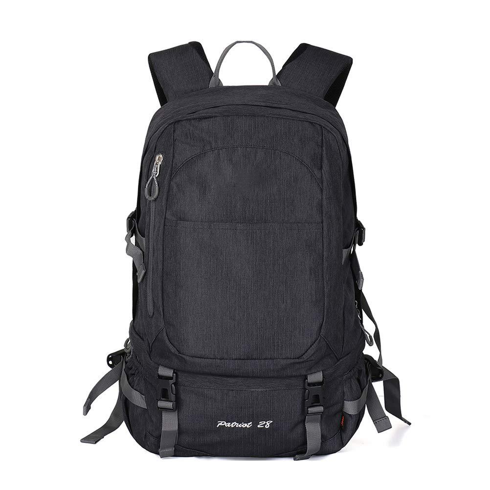 28Lハイキングバックパック、多機能防水カジュアルキャンプトレッキングリュックサック用サイクリング旅行登山アウトドアスポーツ B07RKXR9CQ Black