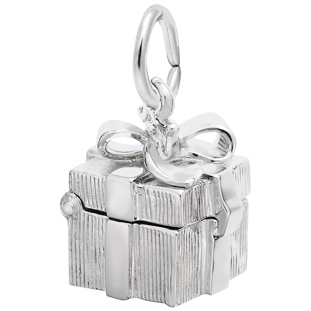 Charms for Bracelets and Necklaces Gift Box Charm