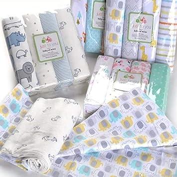 Pack de 4 Muselinas para Bebé: Amazon.es: Bebé