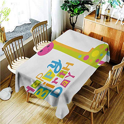Fashions Rectangular Table Cloth,Kids Birthday Children Kindergarten Style