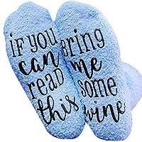 SUMAJU Cupcake Socks, Funny Wine Socks with Cupcake Gift Wrap for Woman