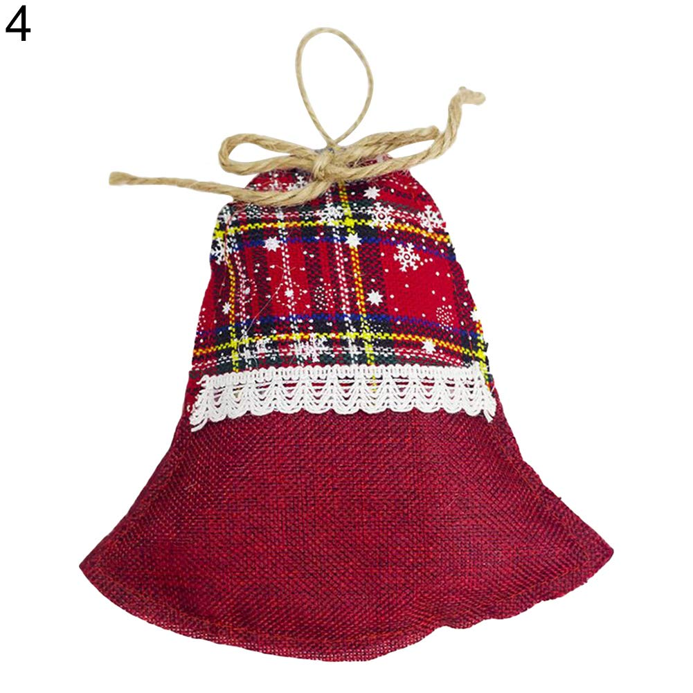 dds5391 Novelty Christmas Stocking Bell Tree Mitten Star Ornament Decoration Hanging Pendant - # 04