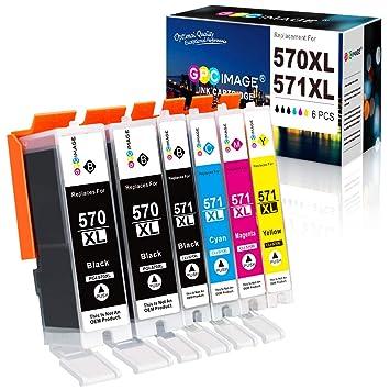 GPC Image 6 Pack PGI-570XL CLI-571XL Cartucho de Tinta Compatible ...