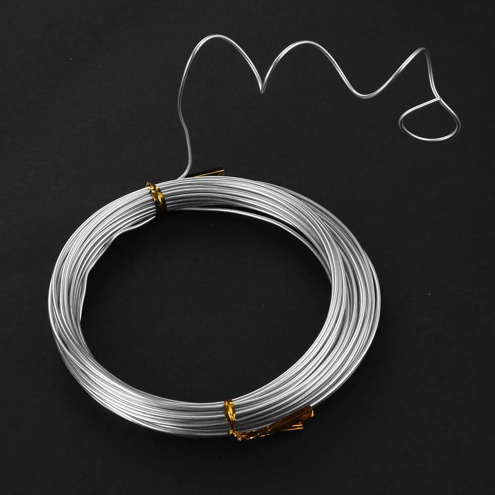 ZELARMAN 32.8 Feet Aluminum Craft Wire 1.5 mm Thickness Bendable Metal Craft Wire for DIY Crafts Making Sky Blue