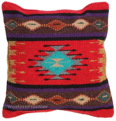 - El Paso Designs Aztec Throw Pillow Covers, 18 X 18, Hand Woven in Southwest and Native American Styles. 1