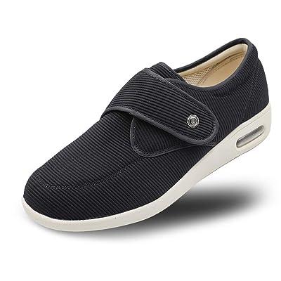 Secret Slippers Women's Diabetic Air Cushion Walking Shoes, Adjustable Breathable Mesh Lightweight Sneakers for Edema, Swollen Feet, Plantar Fasciitis, Elderly   Walking